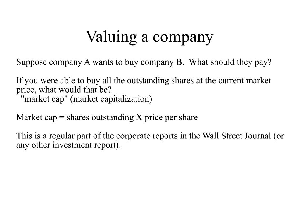 valuing a company l.
