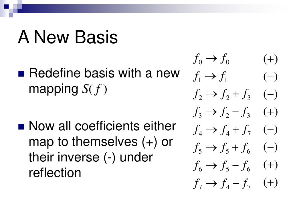 A New Basis