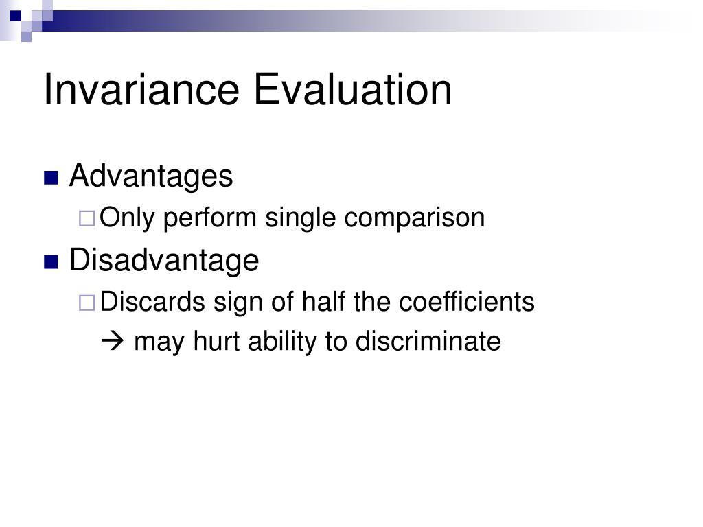 Invariance Evaluation