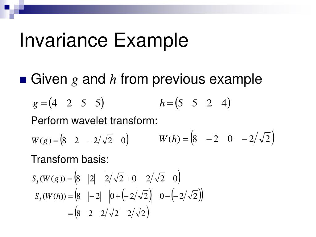 Invariance Example