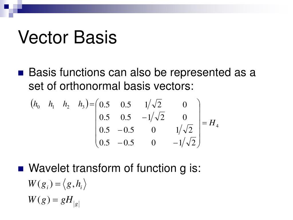 Vector Basis