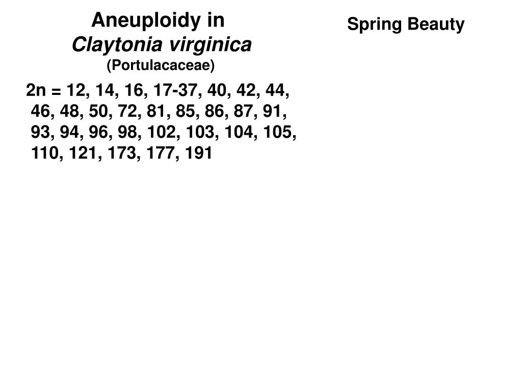 Aneuploidy in