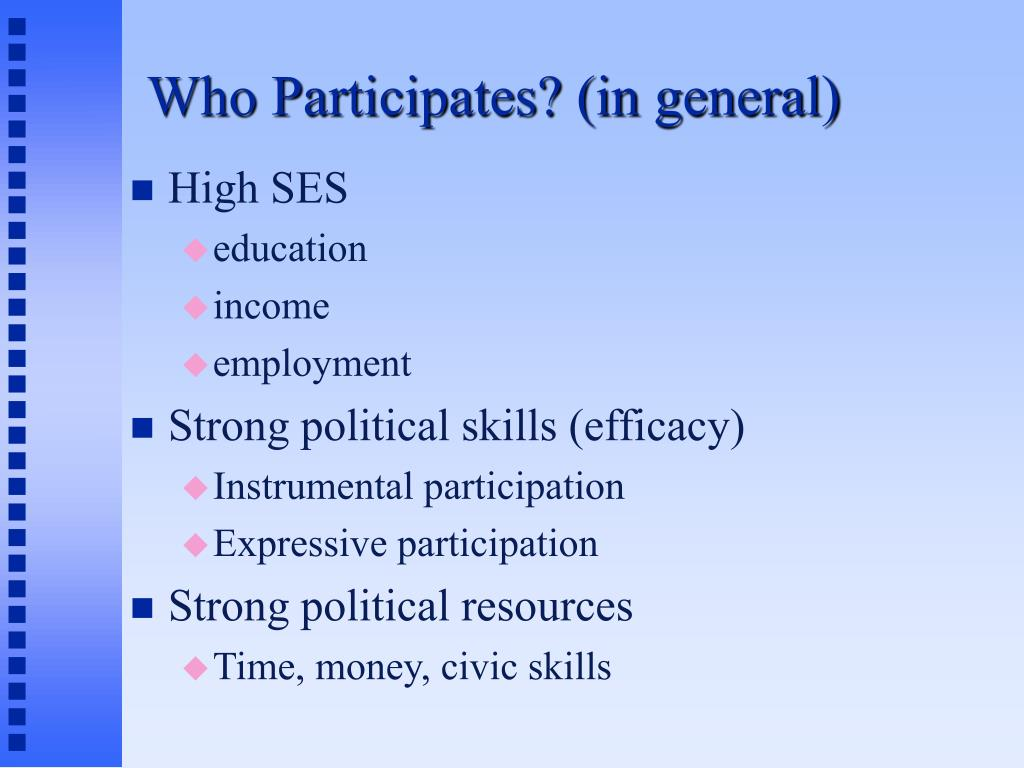 who participates in general l.