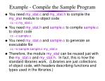 example compile the sample program