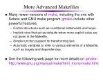 more advanced makefiles