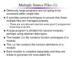 multiple source files 1