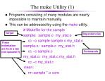 the make utility 1