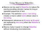 using macros in makefiles