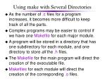 using make with several directories