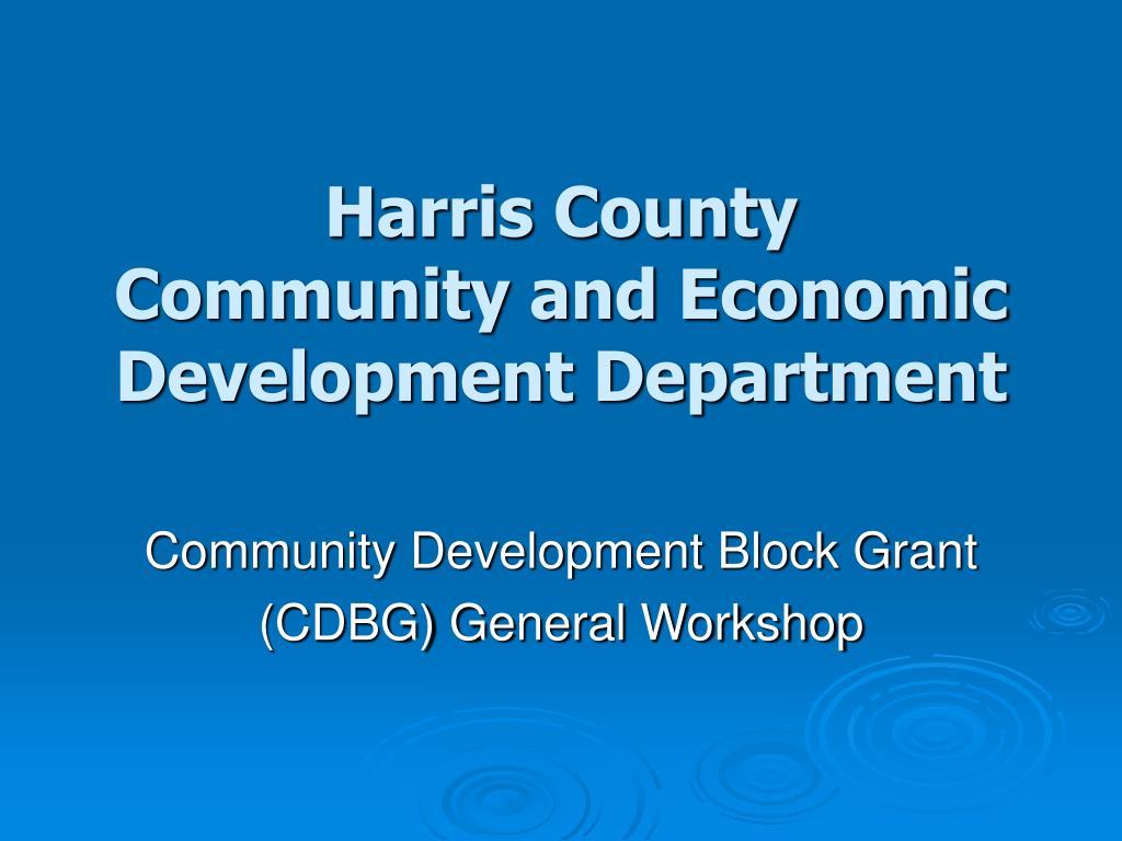 harris county community and economic development department l.