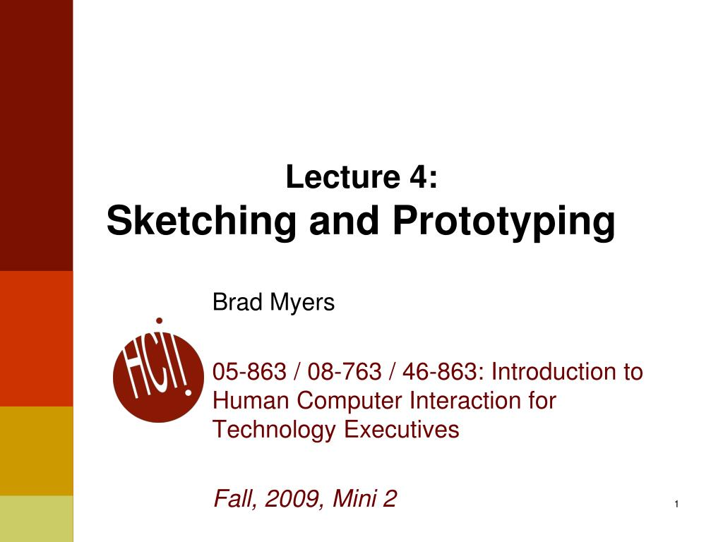 lecture 4 sketching and prototyping l.