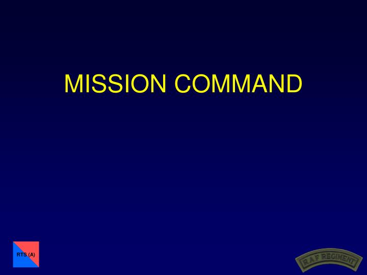 mission command n.