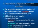 composition objects as instance variables1