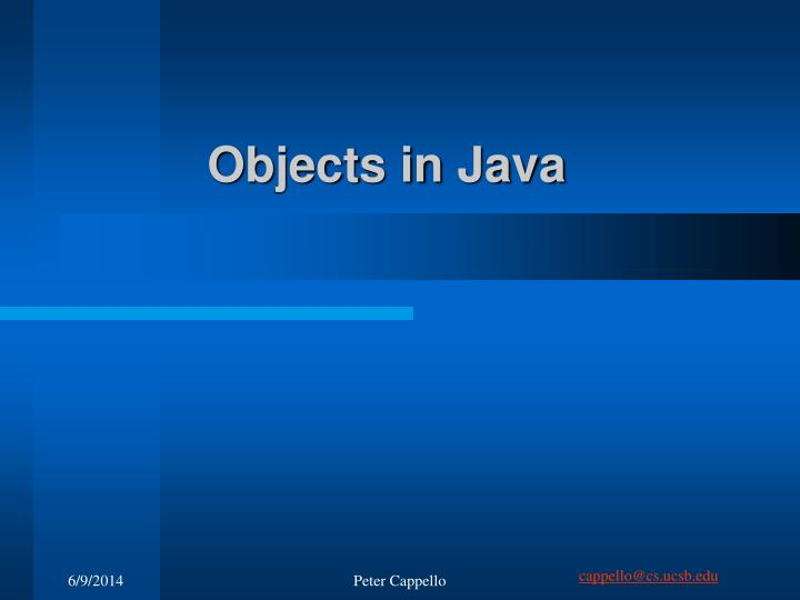 objects in java n.