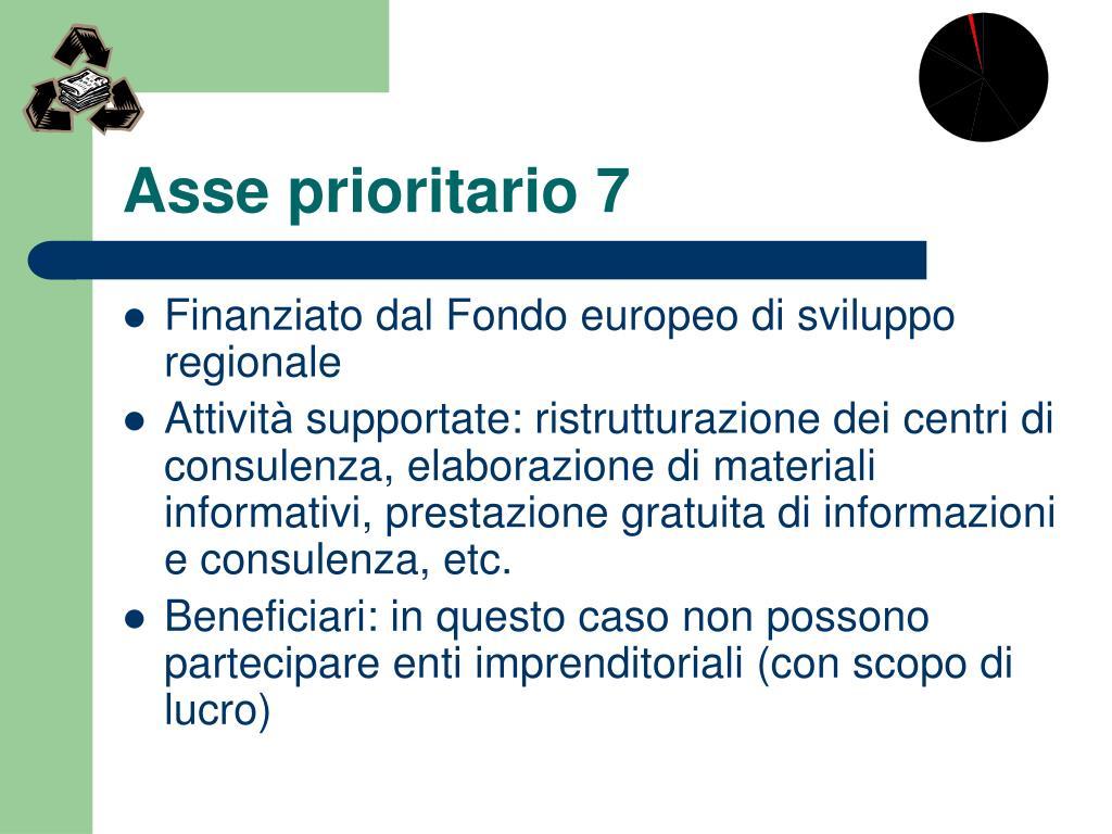 Asse prioritario 7