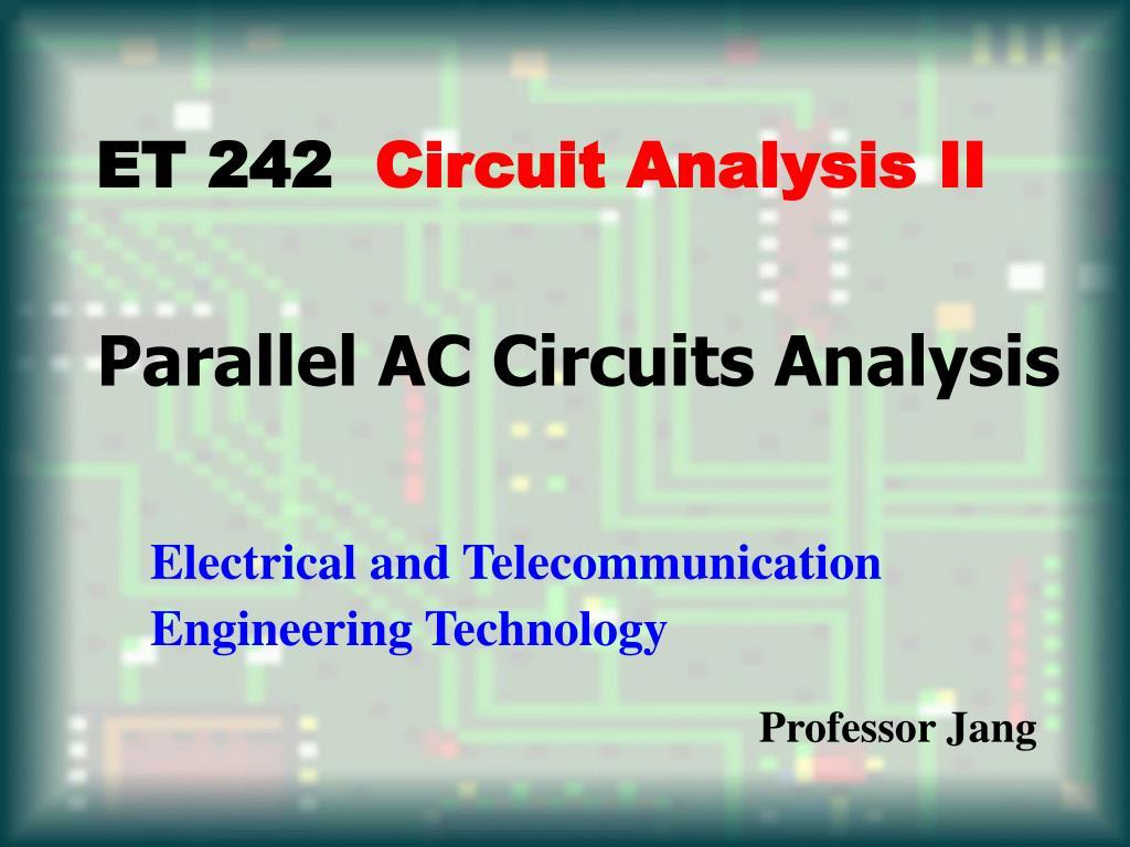 parallel ac circuits analysis l.