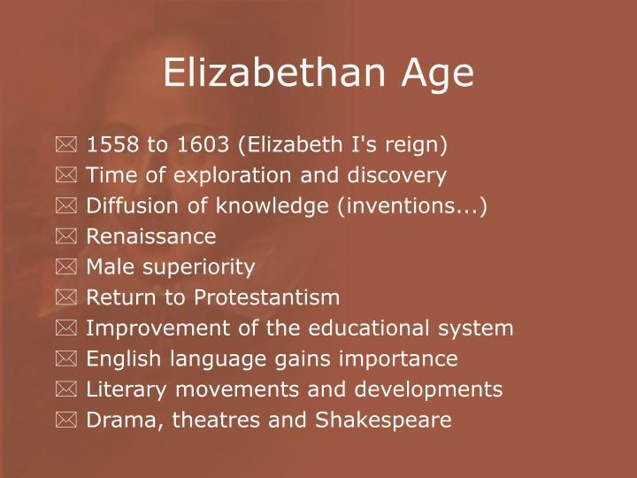 elizabethan era literature
