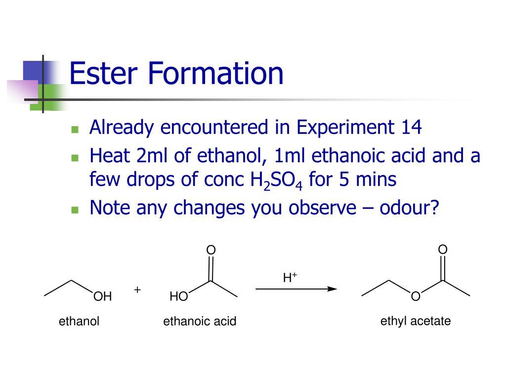 Ester Formation