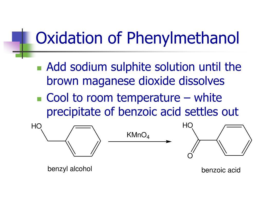 Oxidation of Phenylmethanol
