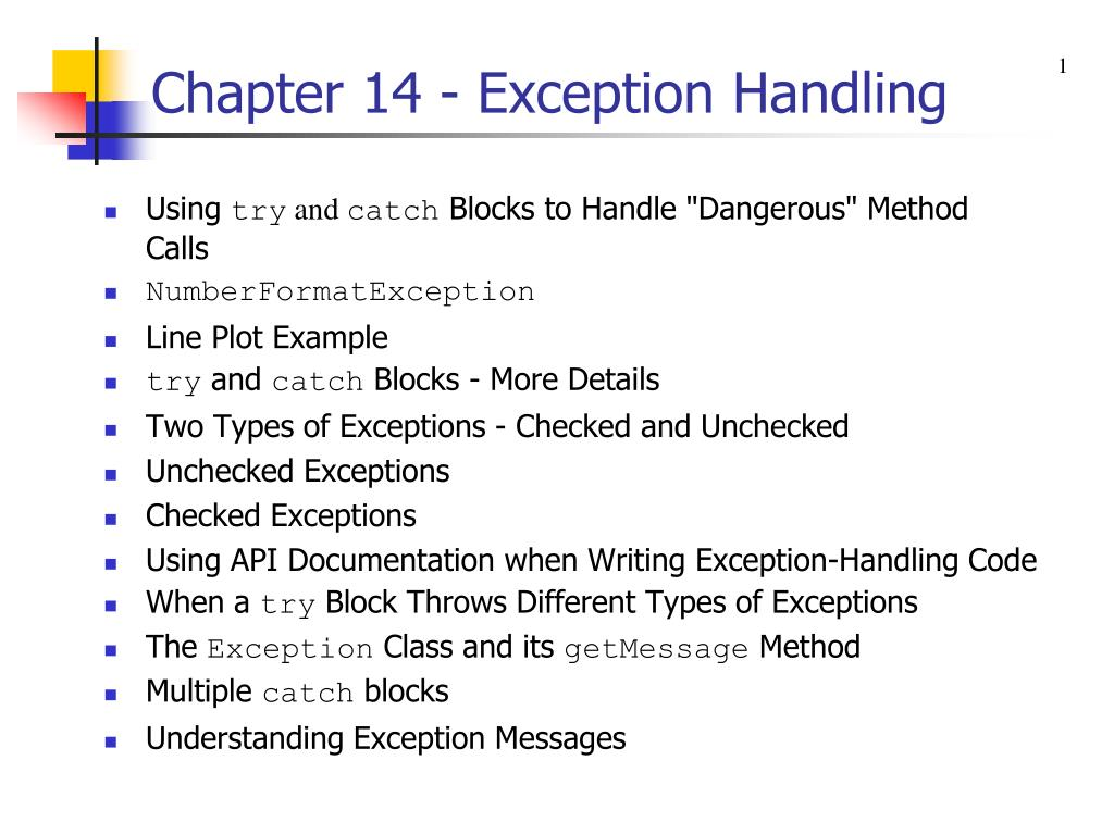 chapter 14 exception handling l.