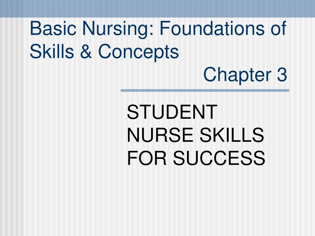 student nurse skills for success l.