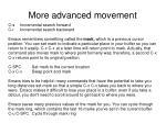 more advanced movement