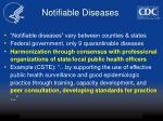 notifiable diseases