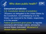 who does public health