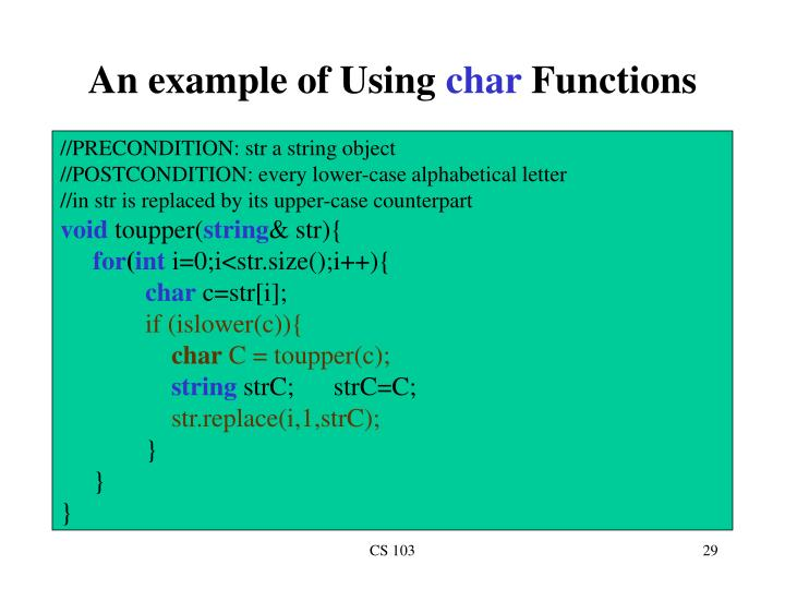 An example of Using