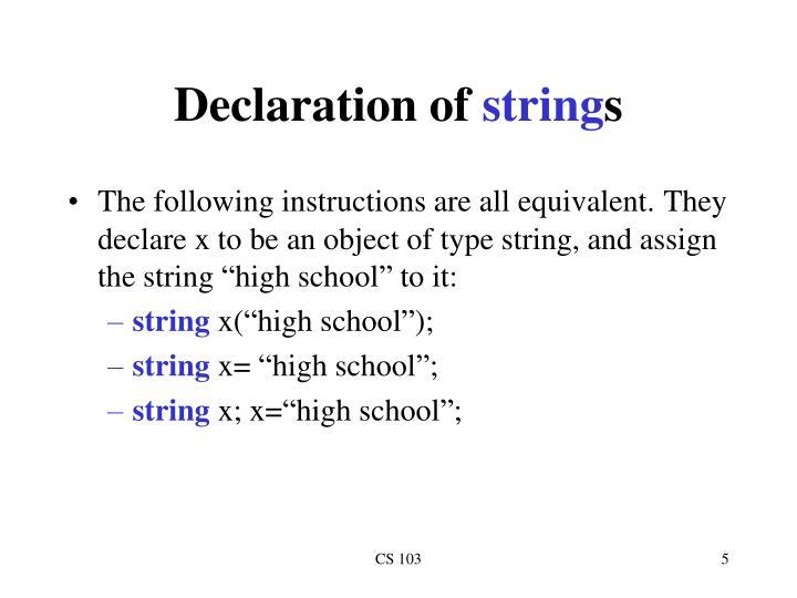 Declaration of