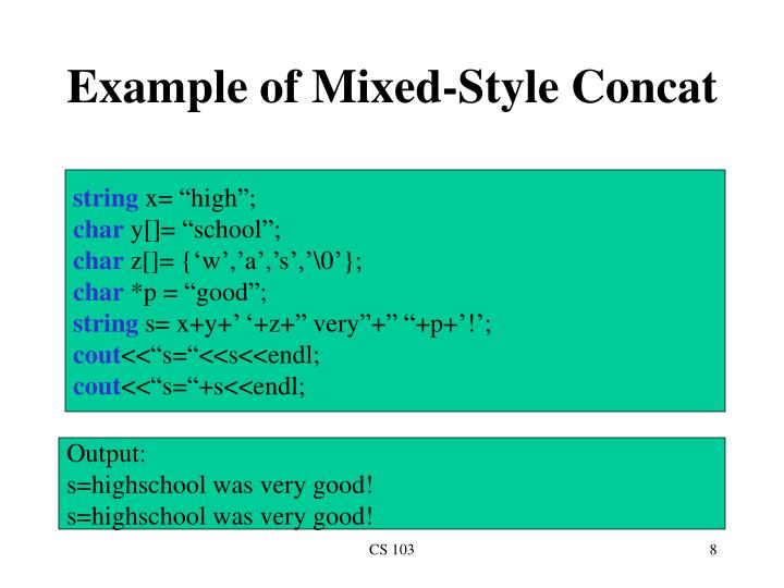Example of Mixed-Style Concat