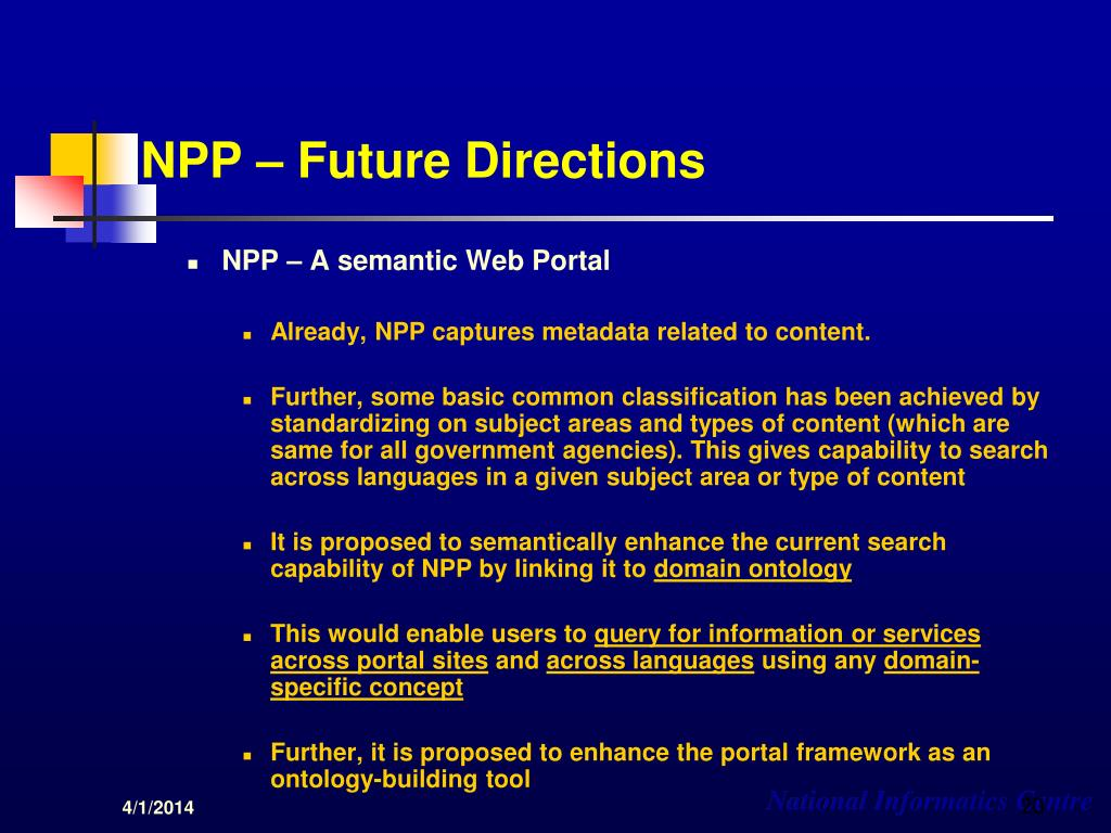 NPP – Future Directions