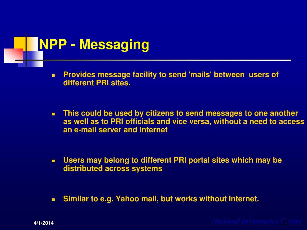 NPP - Messaging