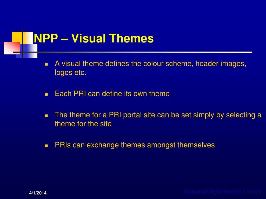 NPP – Visual Themes