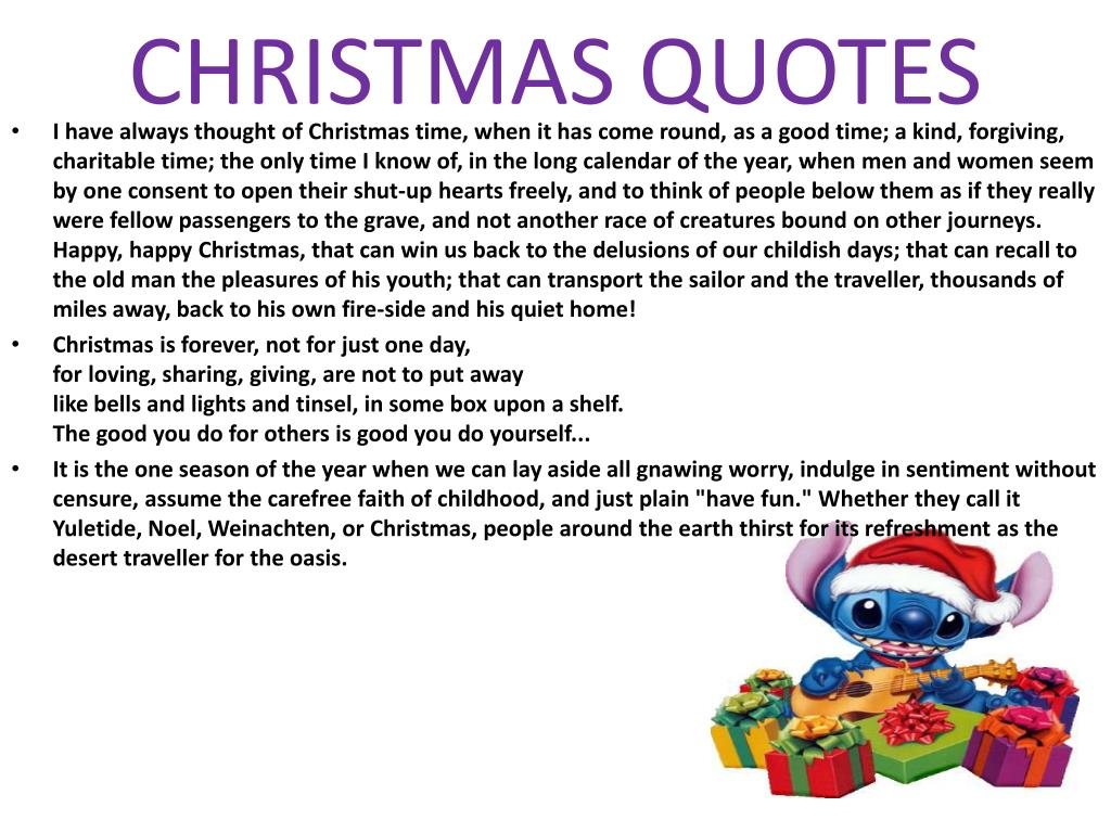 CHRISTMAS QUOTES