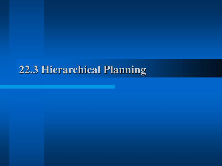 22.3 Hierarchical Planning