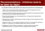 recommendations initiatives need to be taken by japan