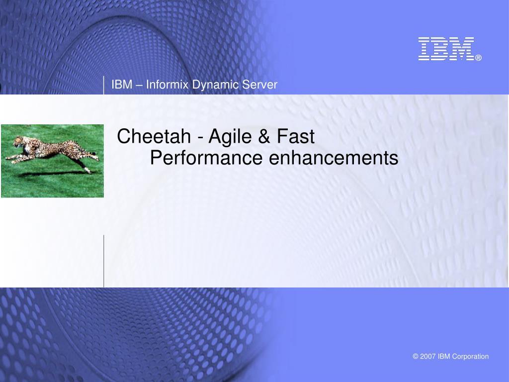 cheetah agile fast performance enhancements l.