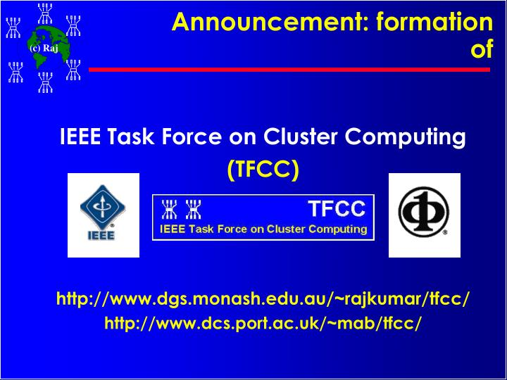 Announcement: formation of
