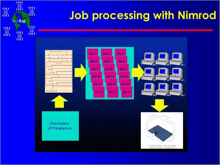 Job processing with Nimrod