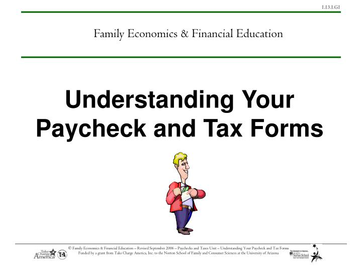 understanding your paycheck and tax forms n.