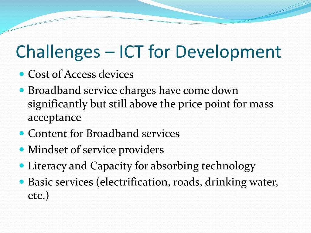 Challenges – ICT for Development