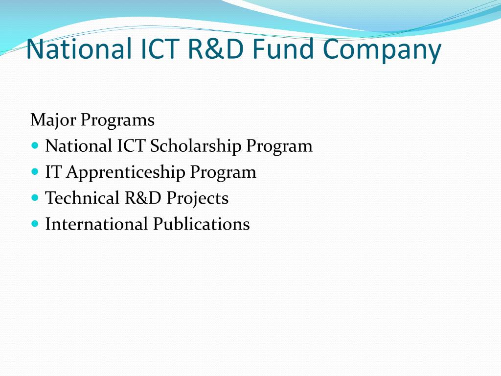 National ICT R&D Fund Company