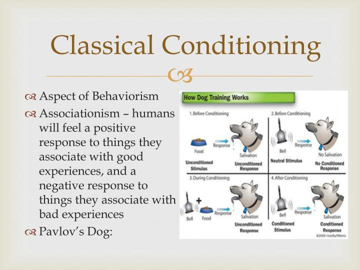 classical conditioning and behaviorism This discovery was later termed classical conditioning (more below) image from pixabay in 1911, psychologist john watson took key elements of observation and experimental rigor, but wrote a seminal paper, psychology as the behaviorist view it.