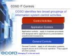 coso it controls