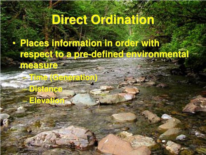 Direct ordination