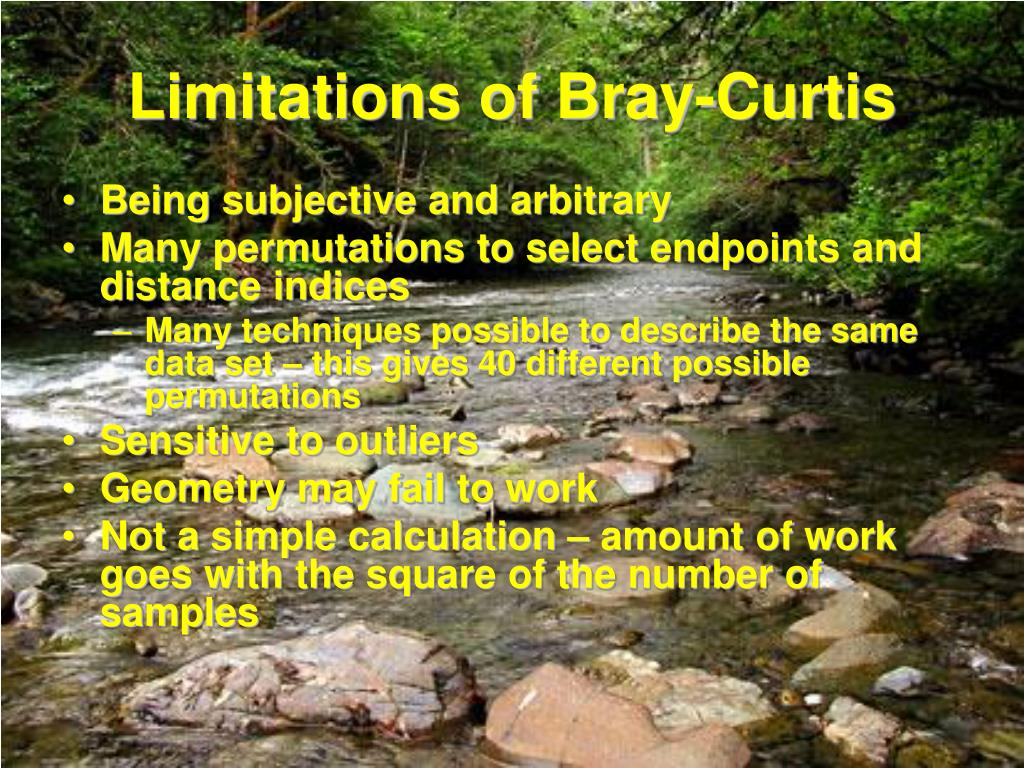 Limitations of Bray-Curtis