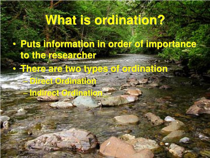 What is ordination