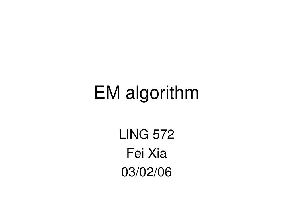 em algorithm l.