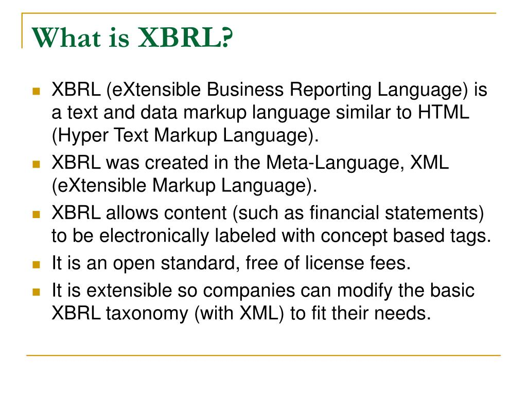 What is XBRL?